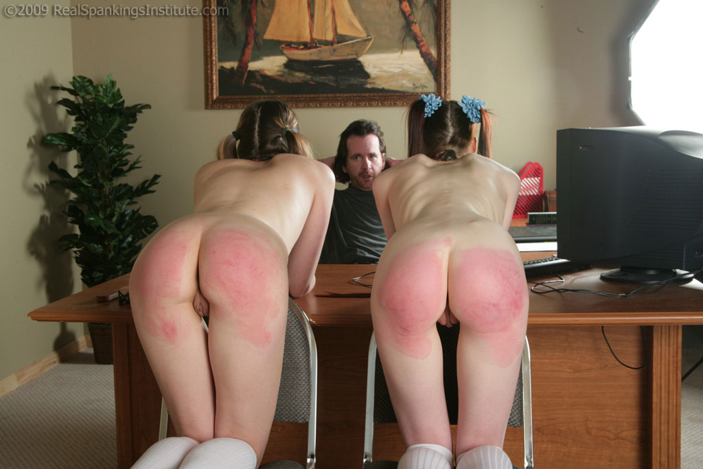 Spanked On Bare Butt