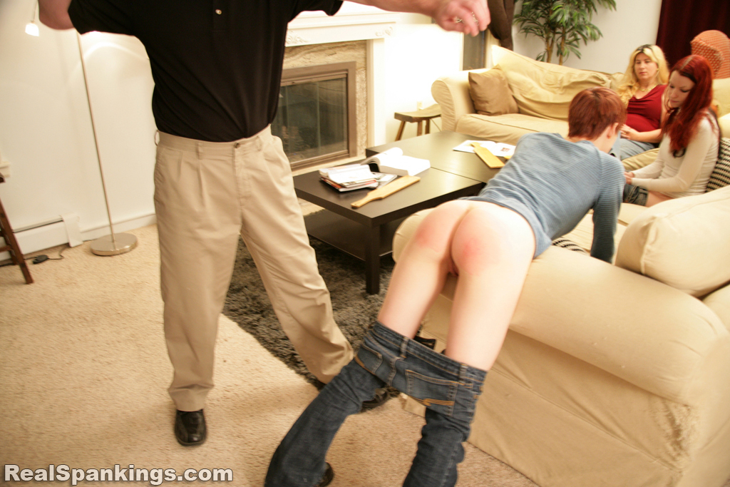 Butt girl spanking bare spanked