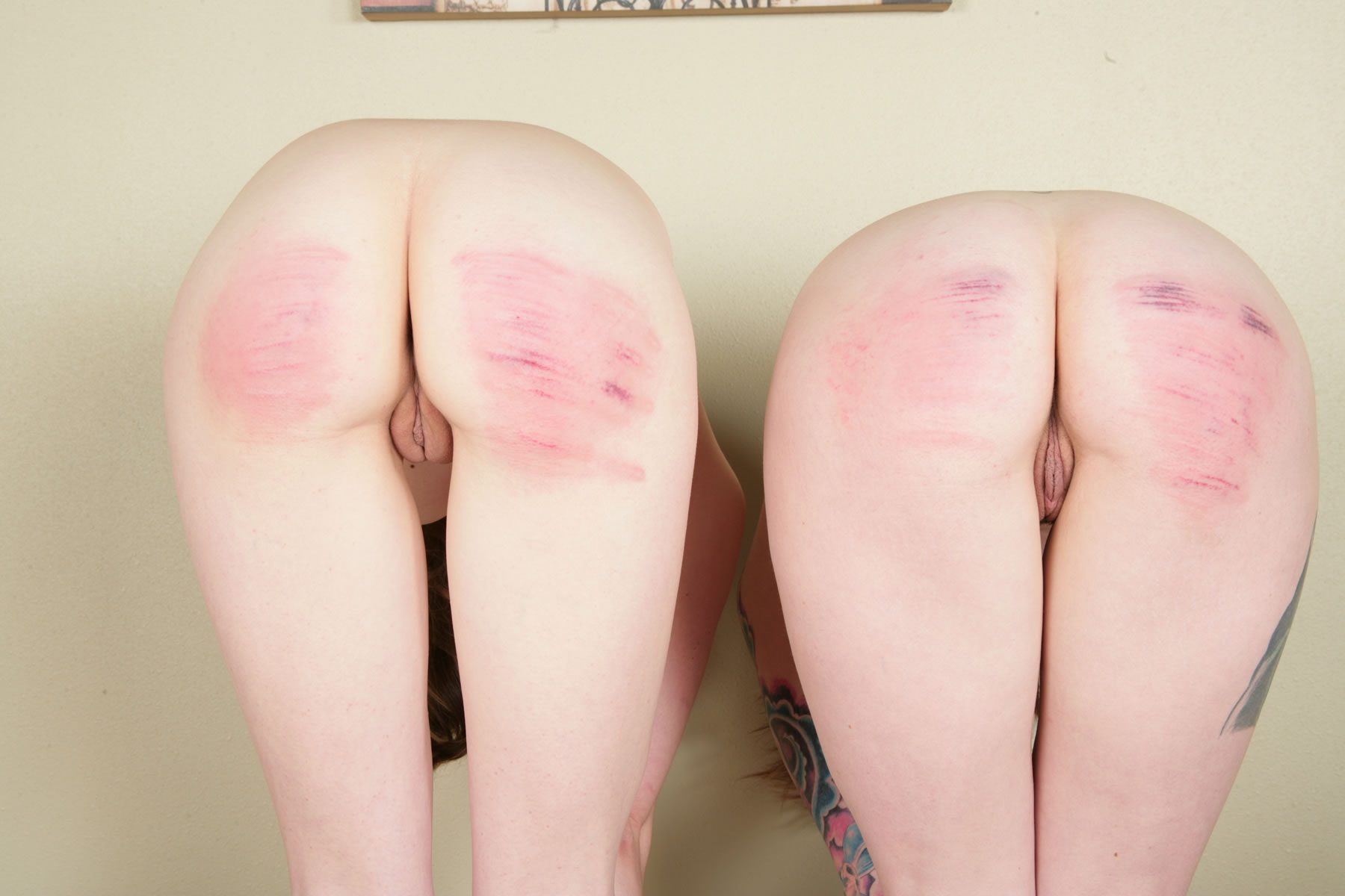 image A sexy women caned in prison