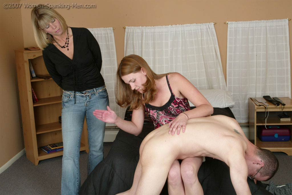 Women spank men clips